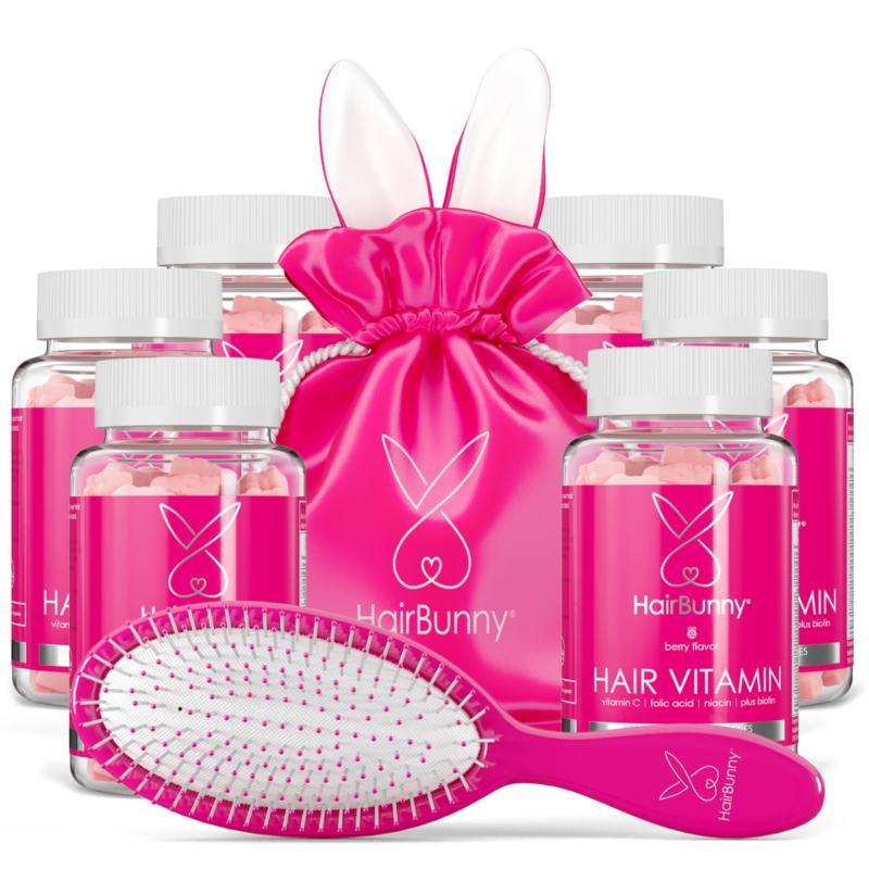 Vitamina pentru păr HAIRBUNNY® – doză pentru 6 lună (360 buc.)